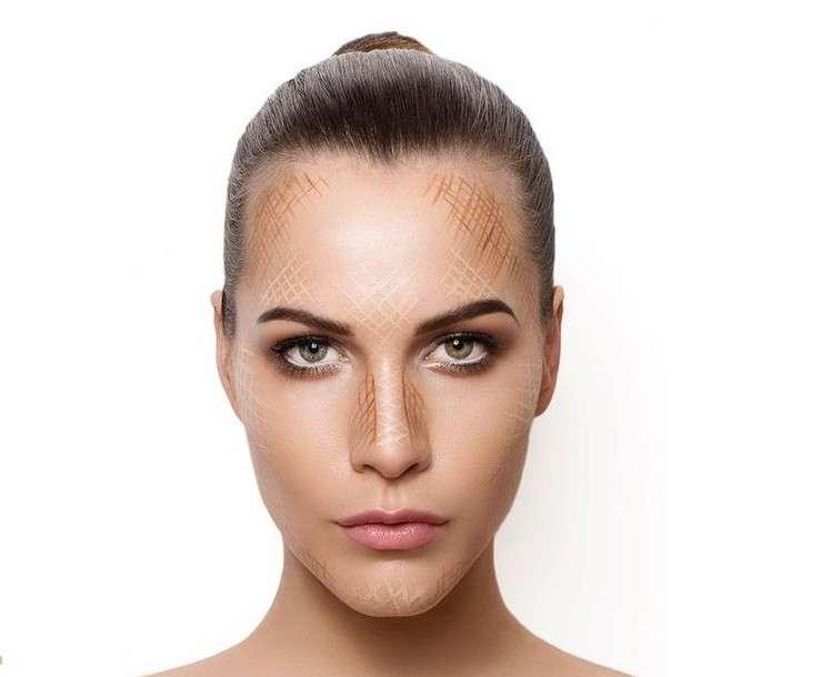 Tecnica del contouring su viso ovale