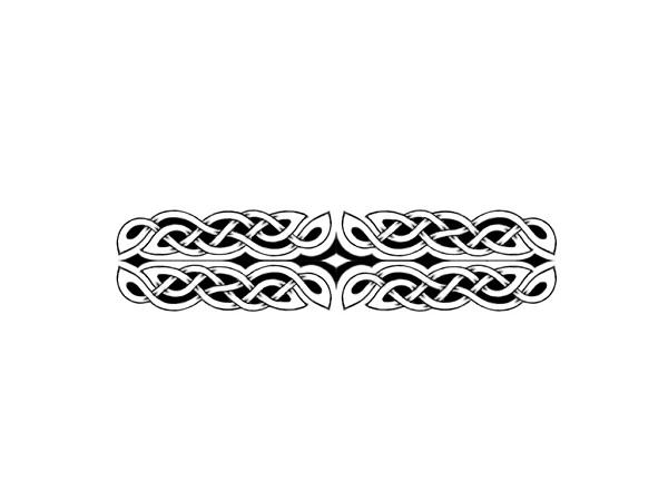 wide celtic armband tattoo design band