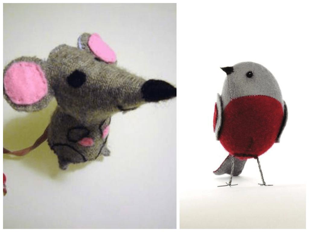 Uccellino e topolino fai da te