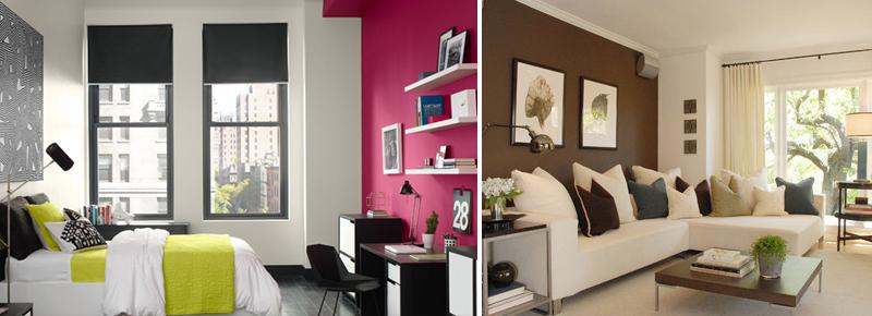 Abbinare i colori dei mobili alle pareti