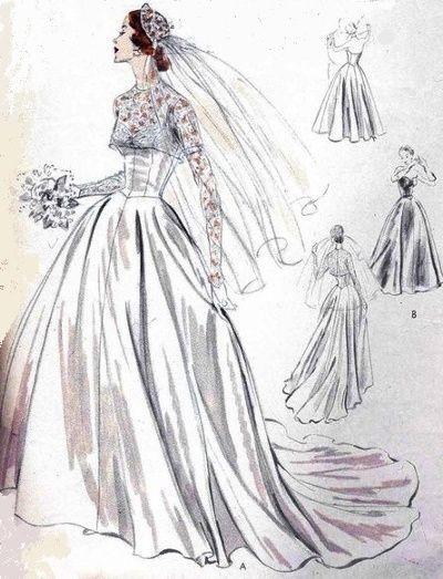 b87d4f3f57a2 abito da sposa classico. Con i cartamodelli ...