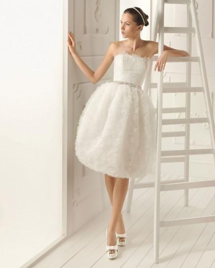 abito da sposa corto di aire barcelona