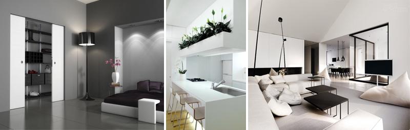 Arredamento minimal chic e di design foto pourfemme for Casa minimal chic
