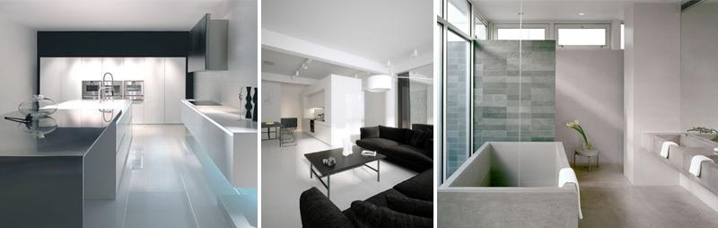 Colori, forme e materiali minimalisti
