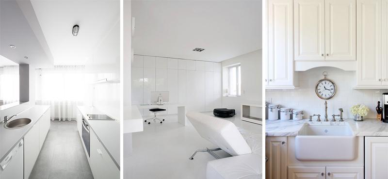 La casa arredata total white