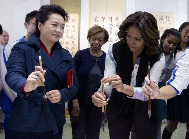 First Ladies Michelle Obama e Peng Liyuan