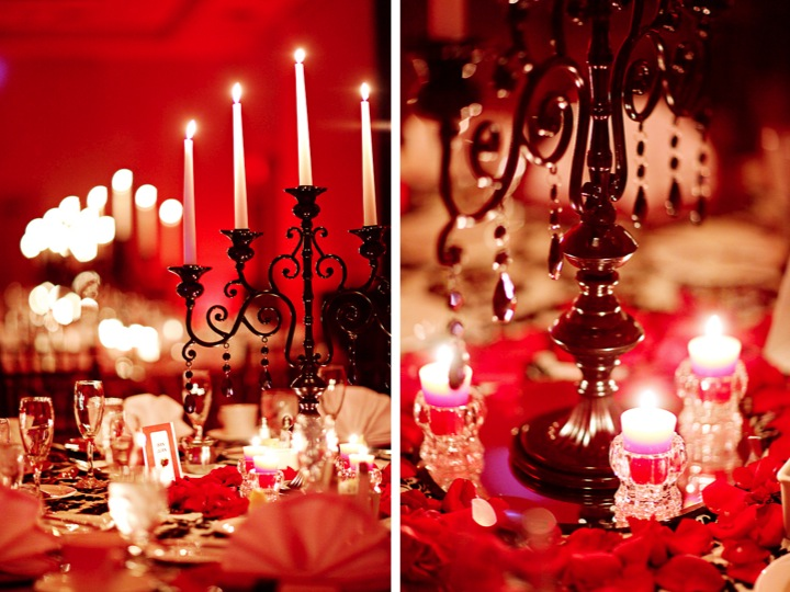 matrimonio in rosso candele