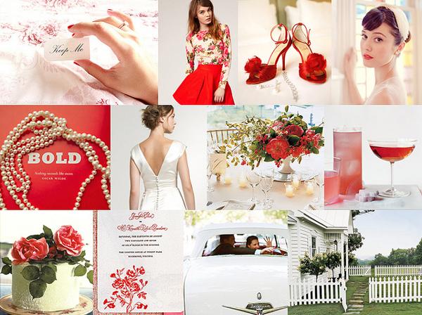 matrimonio in rosso dettagli chic