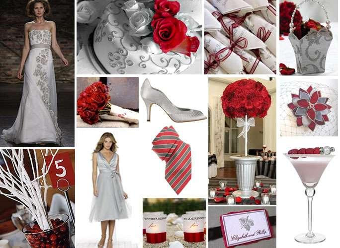 Matrimonio in rosso e argento