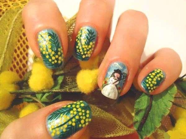 Nail art mimosa e non solo per la festa della donna [FOTO]
