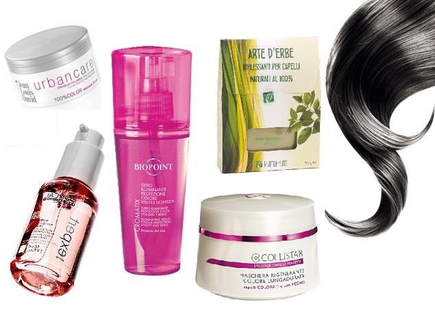 prodotti per capelli tinti