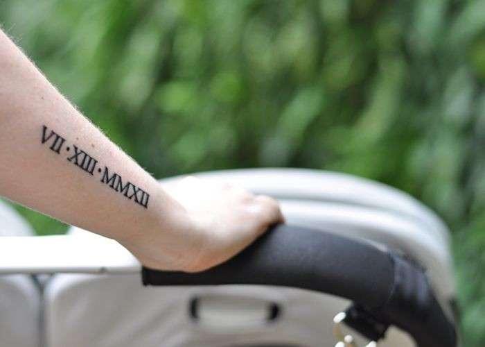 Tatuaggi numeri romani e arabi per lei [FOTO]