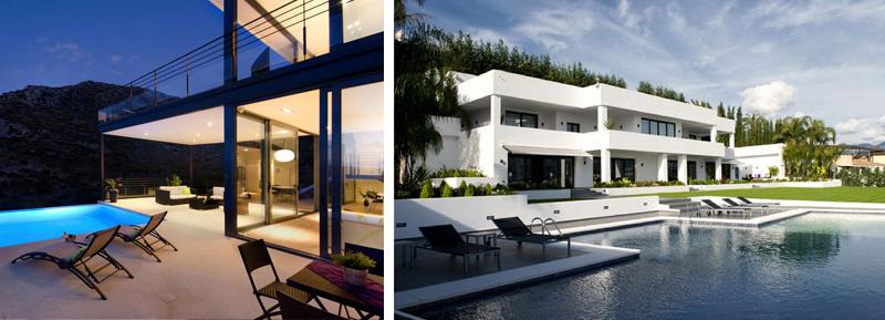 Gli esterni di una villa moderna