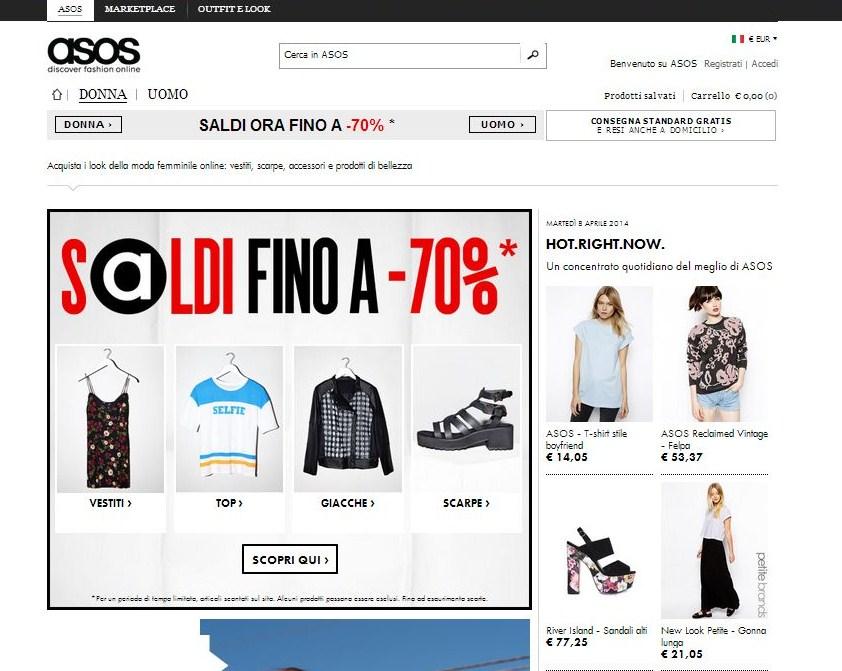 172a049fbaed Asos.com è tra i siti di shopping online preferiti dalle fashioniste perché  propone abbigliamento