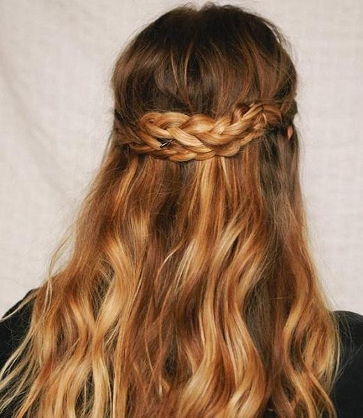 Half Braided Long Hairstyle