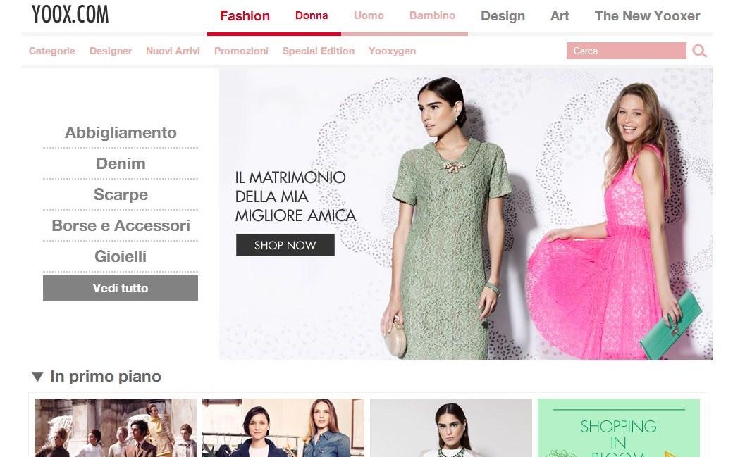 c89c46c5a2fc Yoox è un sito di shopping online tutto italiano dove potete trovare le  proposte delle migliori marche internazionali con prezzi scontati anche del  50%.