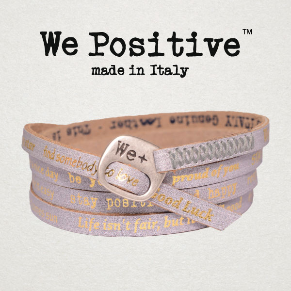 Bracciali We Positive, l'accessorio must have di stagione
