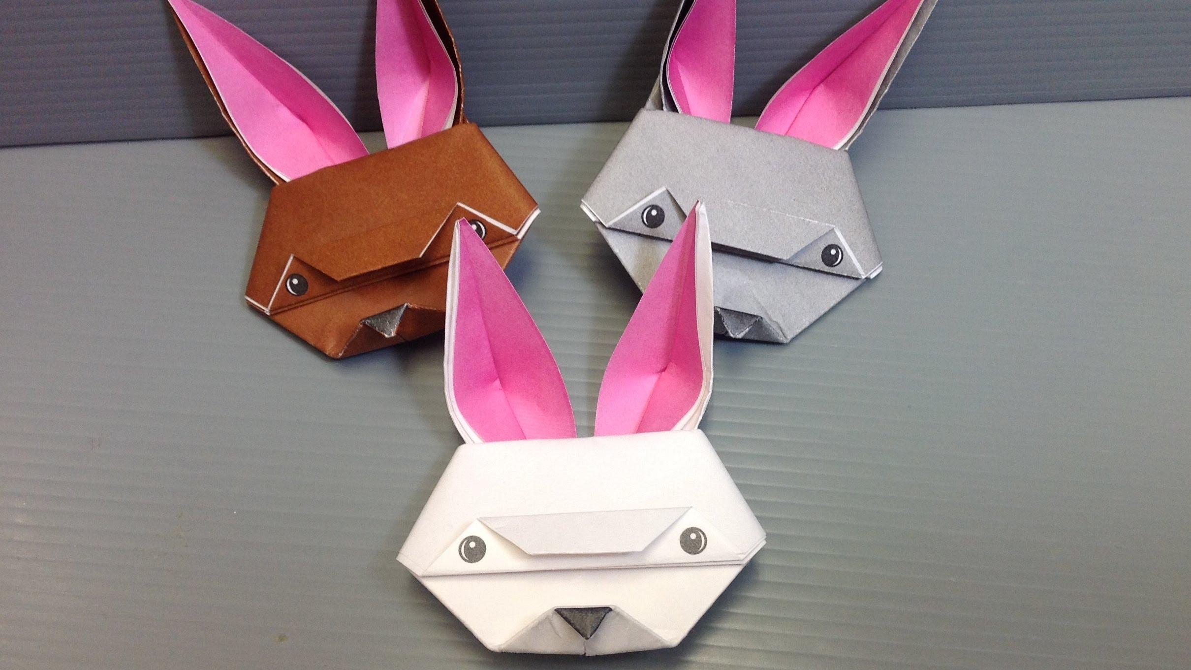 coniglietti musetto origami pasquali