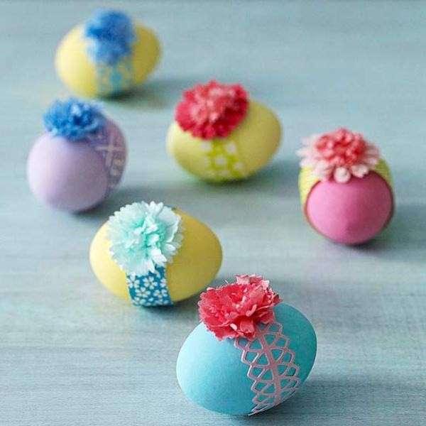 Decorare le uova di pasqua tante idee fai da te foto pourfemme - Decorazioni uova pasquali per bambini ...