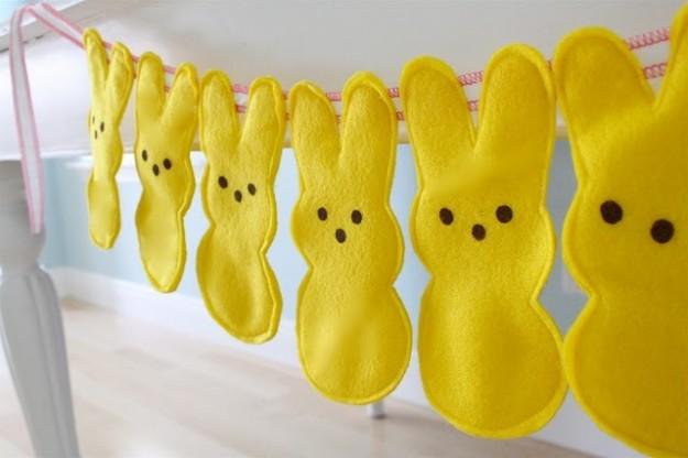 festone con coniglietti
