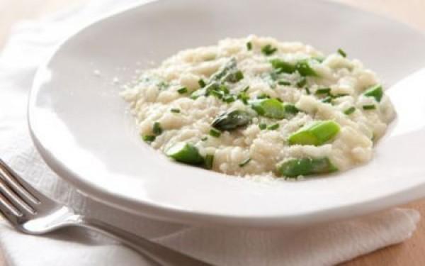 Risotto agli asparagi, ricetta light