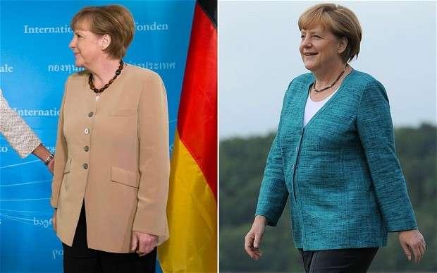 Angela Merkel prima e dopo la dieta