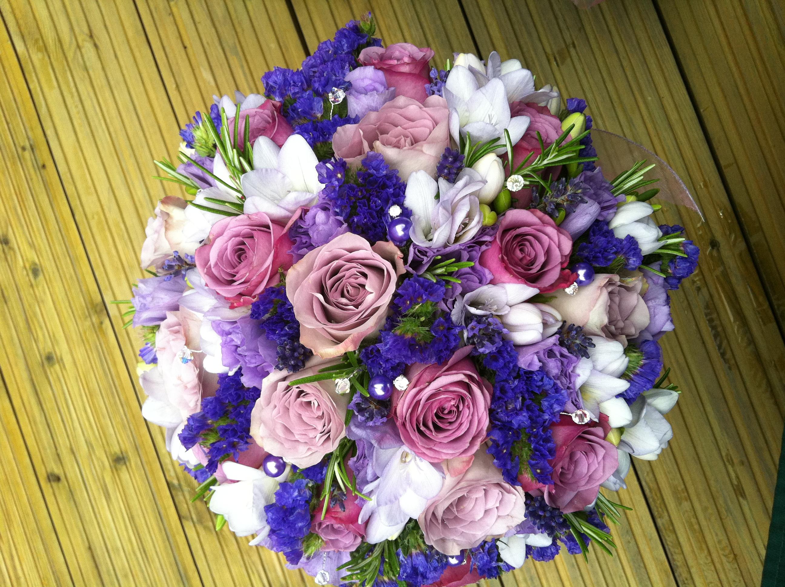 bouquet sposa estivo lilla