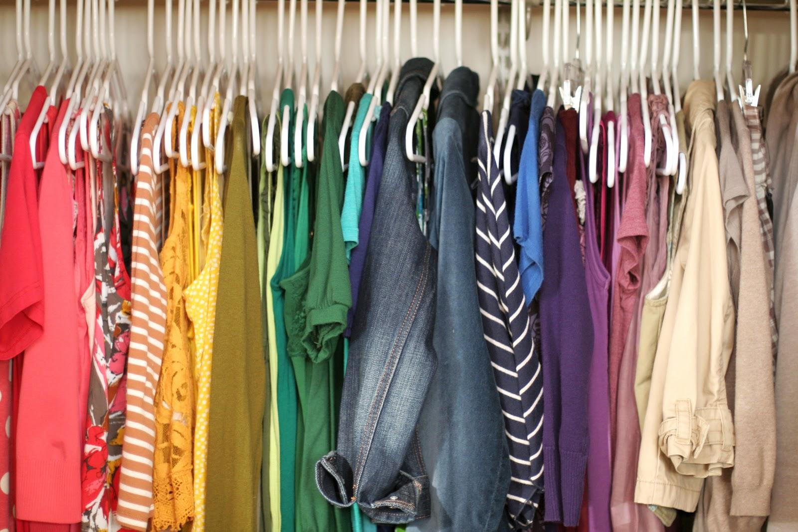 organizzare vestiti colore