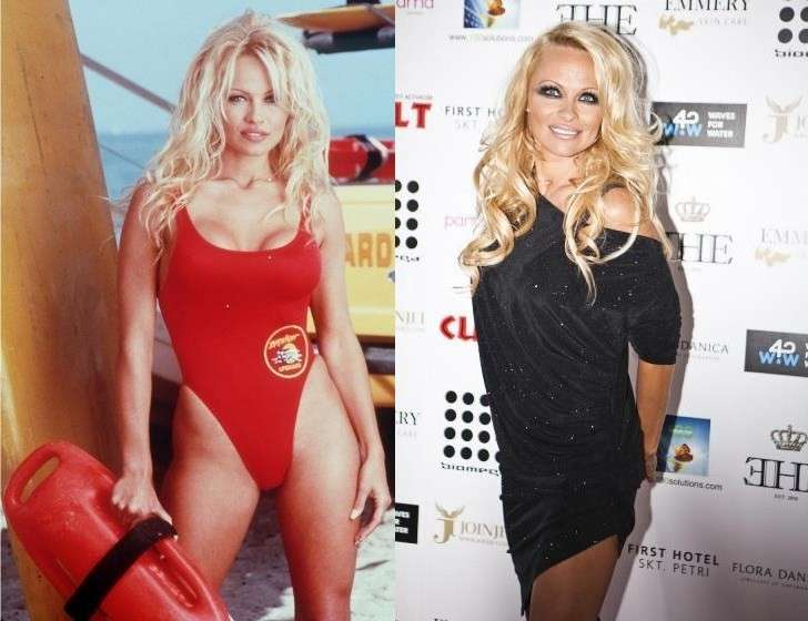 Pamela Anderson ieri e oggi