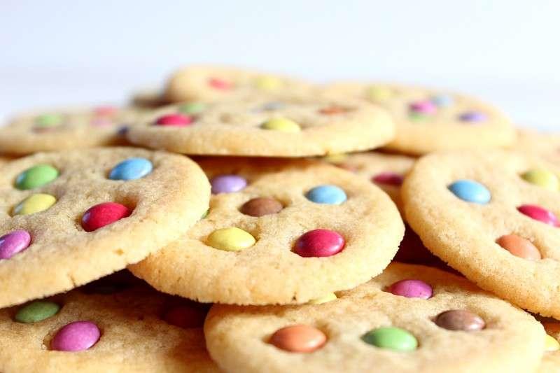 Smarties colorati per i biscotti