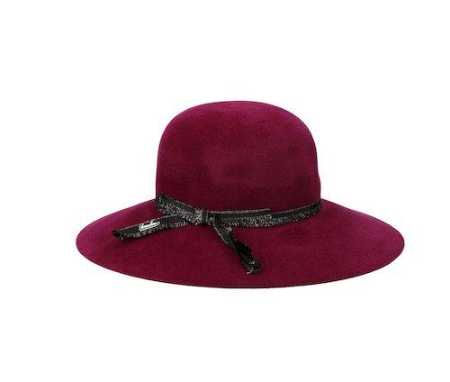Cappello bordeaux Borsalino
