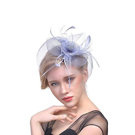Cappello da cerimonia con veletta Ssowun in vendita su Amazon