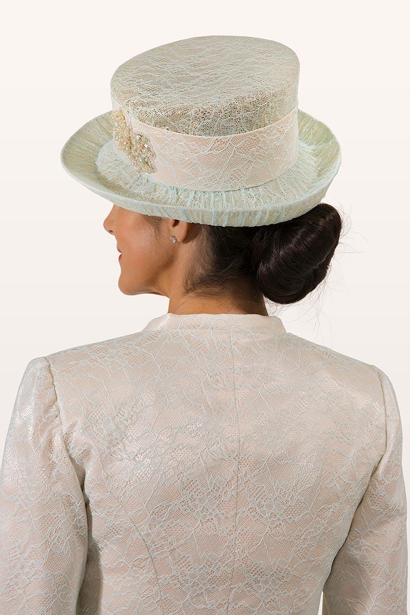 Cappello da cerimonia piccolo ricamato Elizabeth Bessant