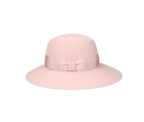 Cappello da cerimonia rosa cipria per la mamma della sposa Borsalino