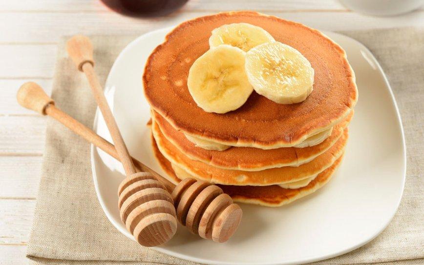 Banana pancake, ricetta light
