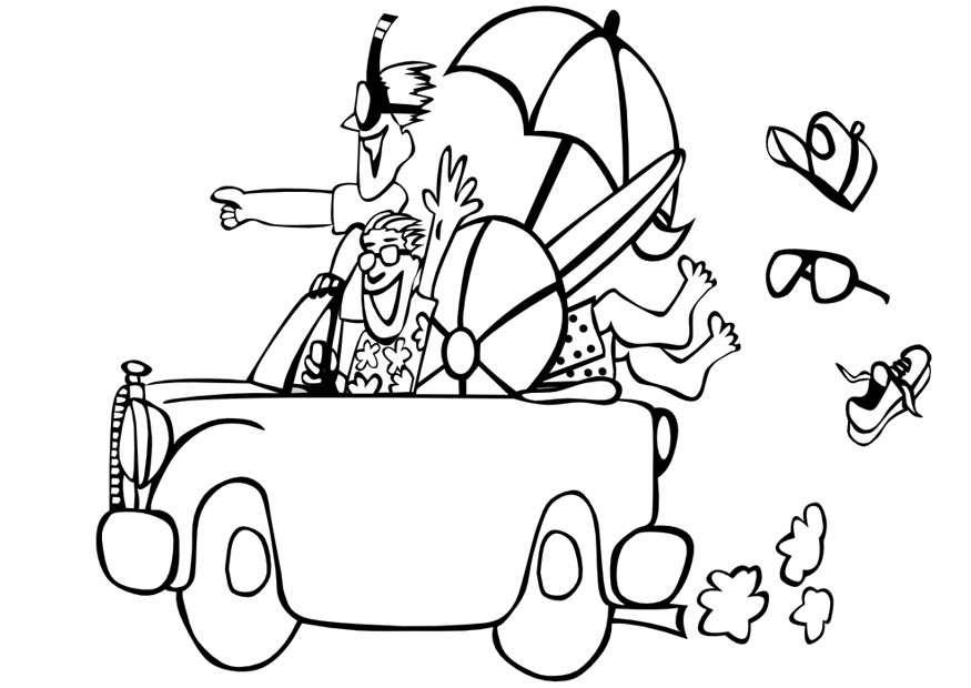 Disegni sull'estate per bambini da stampare e colorare [FOTO]