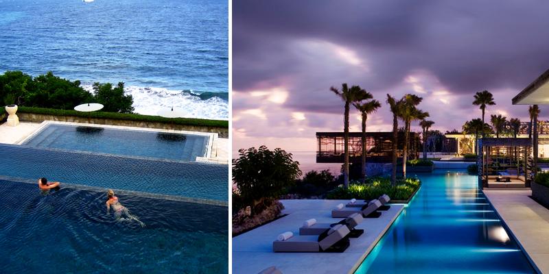 Splendide piscine in terra d'oriente
