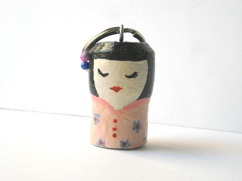 portachiavi geisha materiale riciclato