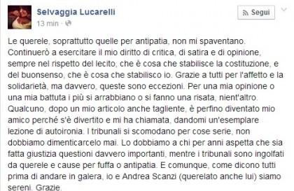 Barbara D'Urso vs Selvaggia Lucarelli, il post della blogger su Facebook