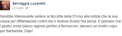 Barbara D'Urso vs Selvaggia Lucarelli, la conduttrice ha perso la causa