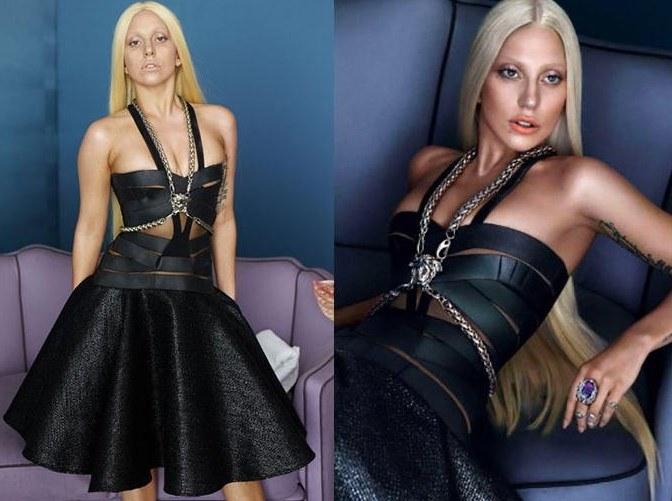 Lady Gaga ritocco photoshop