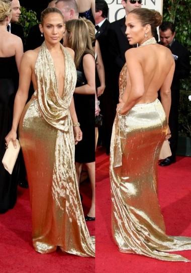 abito oro per j lo