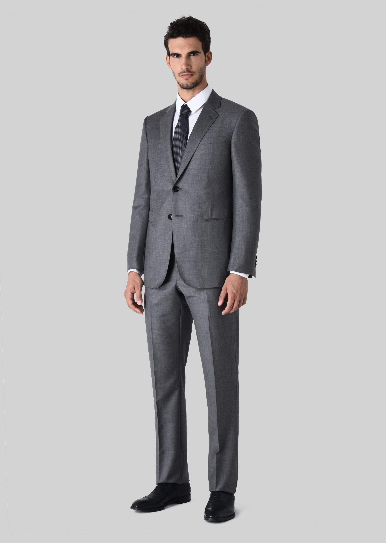 Abito da cerimonia uomo Armani grigio in lana e cashmere
