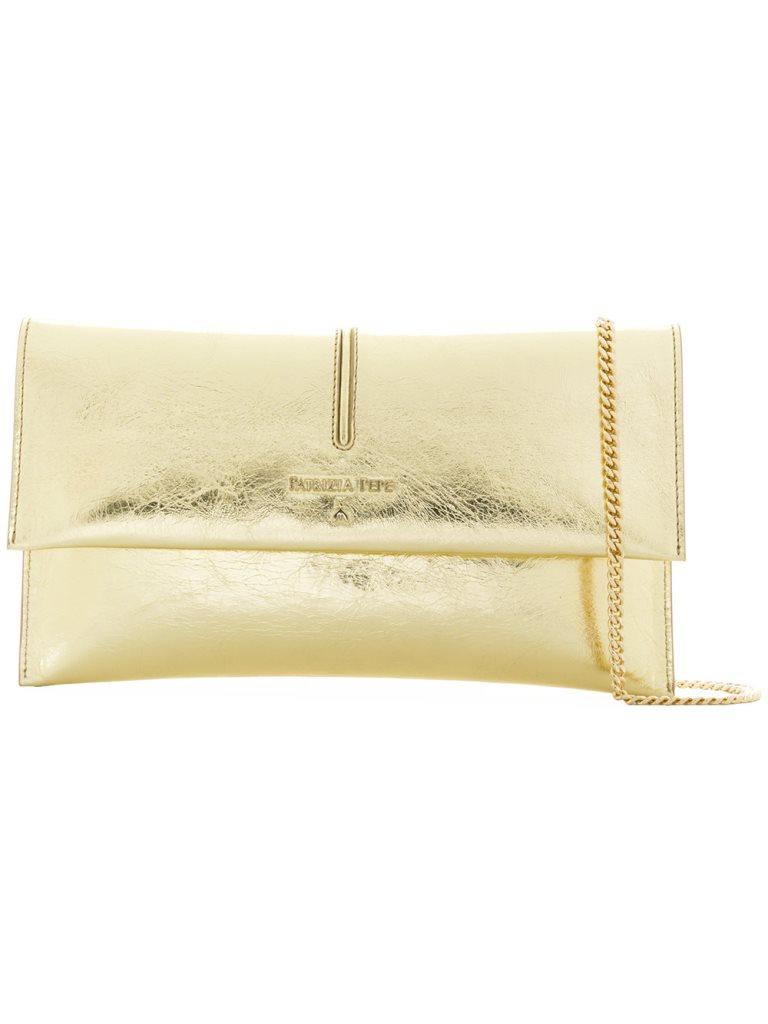 borsa da cerimonia oro patrizia pepe