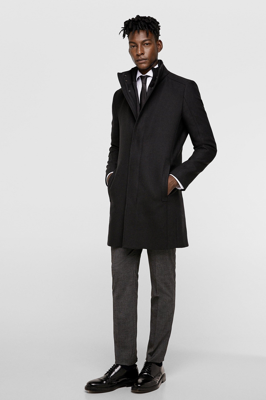 Cappotto nero elegante Zara da uomo