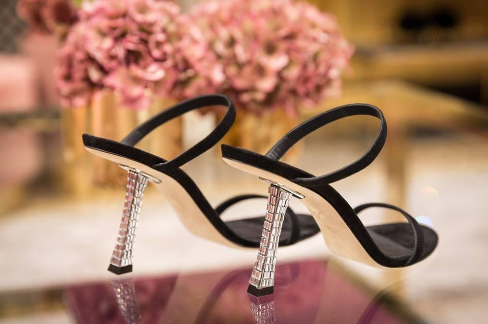 Sandali con tacco gioielli Giuseppe Zanotti