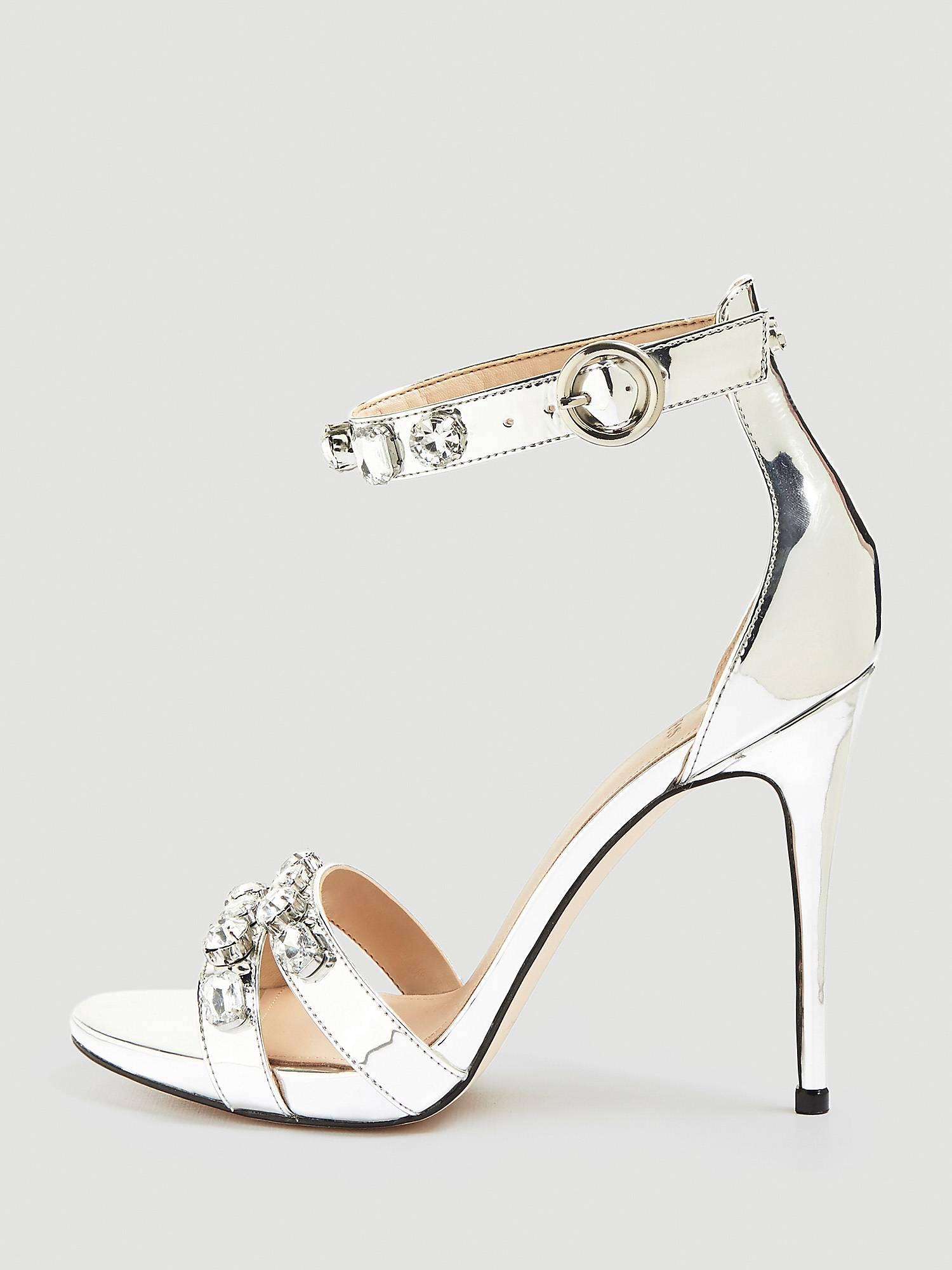 Sandali gioiello argento Guess