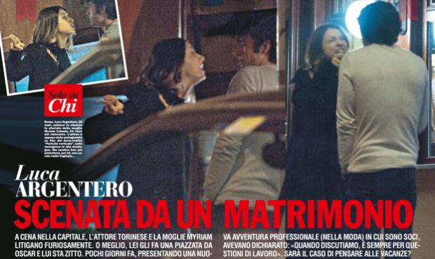 Luca Argentero e Myriam Catania crisi