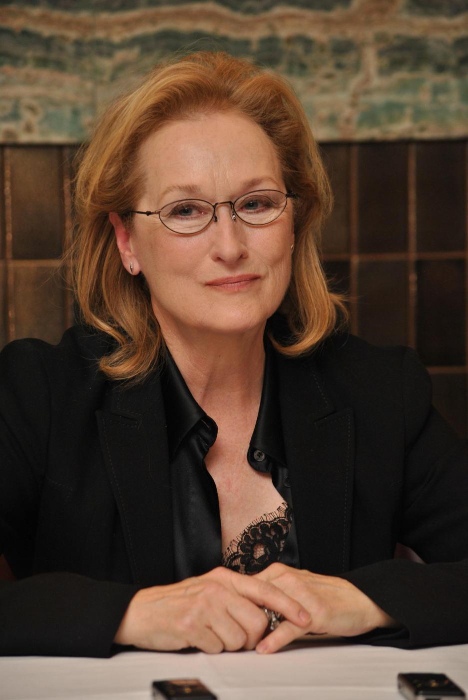 Meryl Streep, ritratti in conferenza stampa