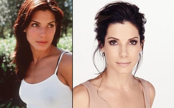 Sandra Bullock prima e dopo